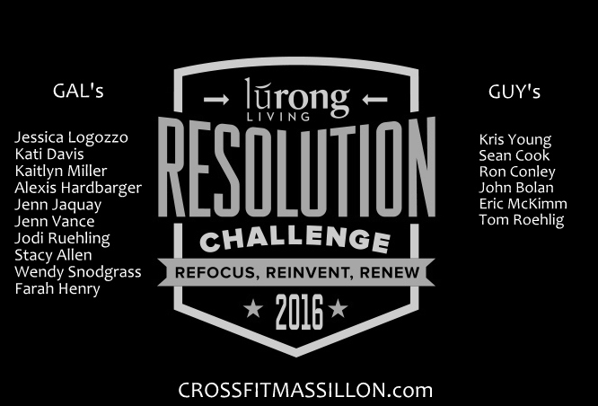 Lurong Living Resolution Challenge WINNER's