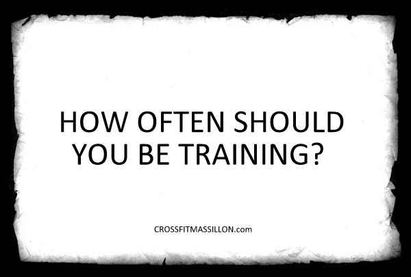 Training Frequency for Optimum Results